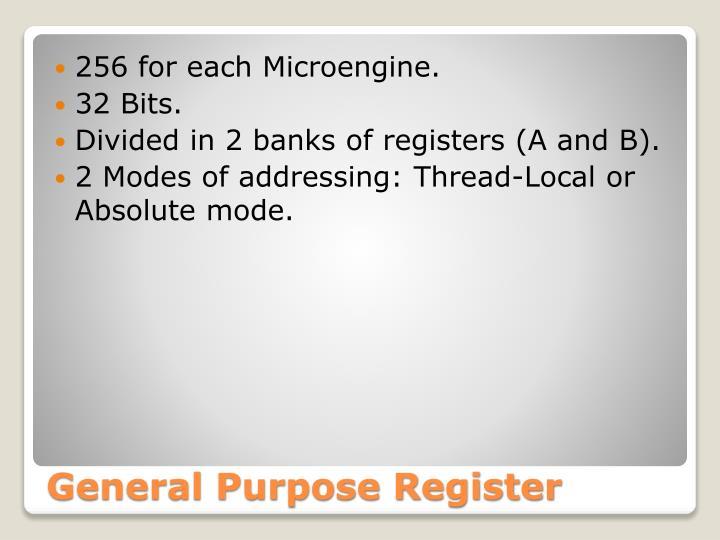 General purpose register