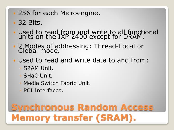 256 for each Microengine.