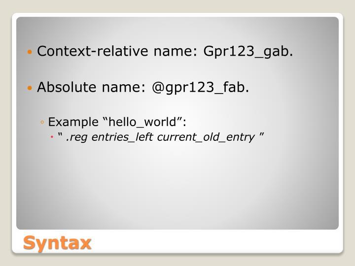 Context-relative name: Gpr123_gab.