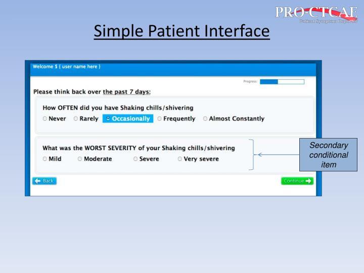 Simple Patient Interface