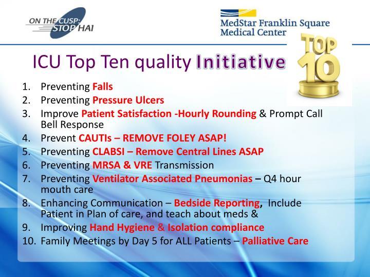 ICU Top Ten quality