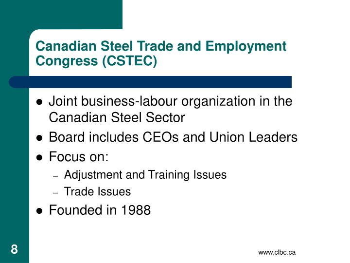 Canadian Steel Trade and Employment Congress (CSTEC)