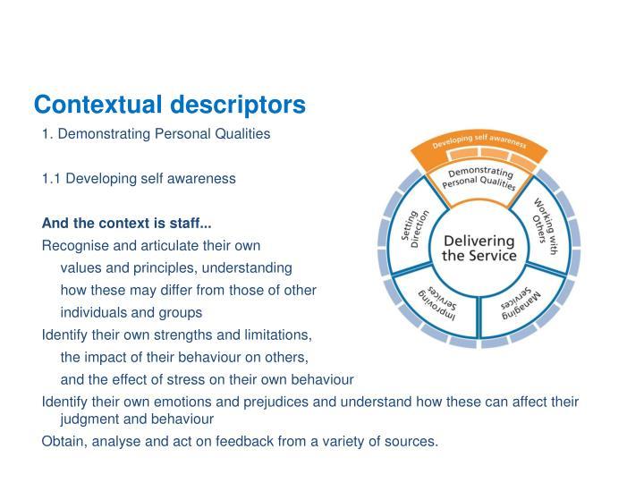 Contextual descriptors