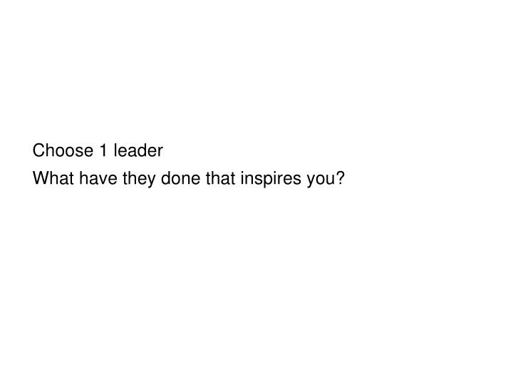 Choose 1 leader