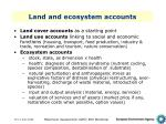 land and ecosystem accounts