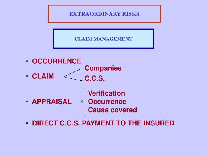 EXTRAORDINARY RISKS