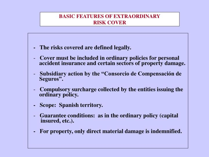 BASIC FEATURES OF EXTRAORDINARY