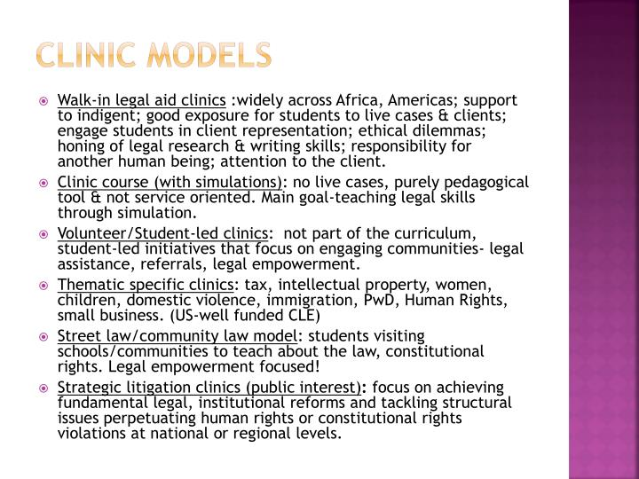 Clinic models