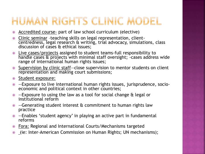 Human Rights Clinic Model