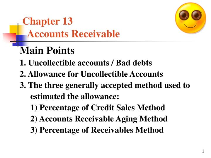 chapter 13 accounts receivable n.