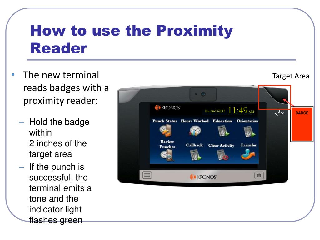 PPT - Kronos 6 3 Upgrade & New InTouch Clocks PowerPoint