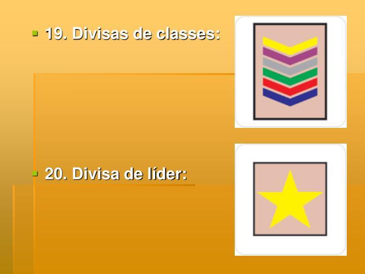 19. Divisas de classes: