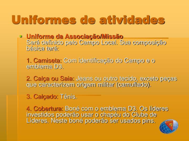 Uniformes de atividades