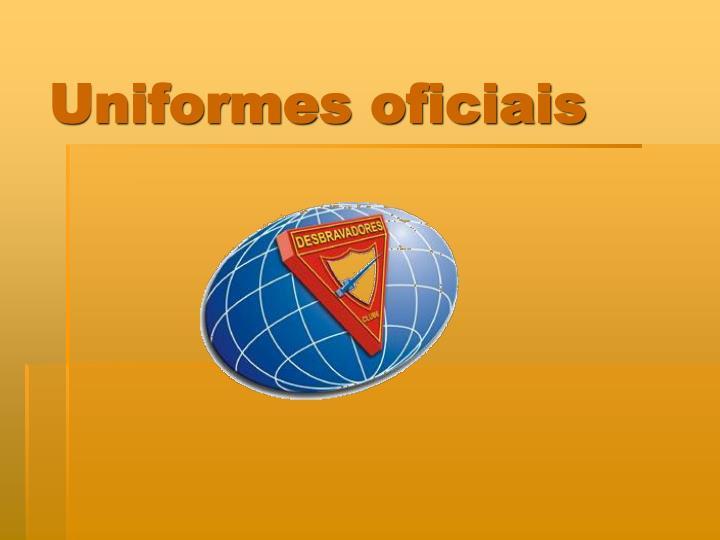 Uniformes oficiais