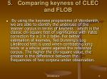 comparing keyness of clec and flob