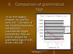 comparison of grammatical tags