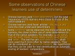 some observations of chinese learners use of determiners