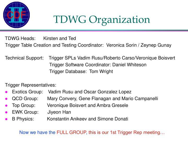 Tdwg organization