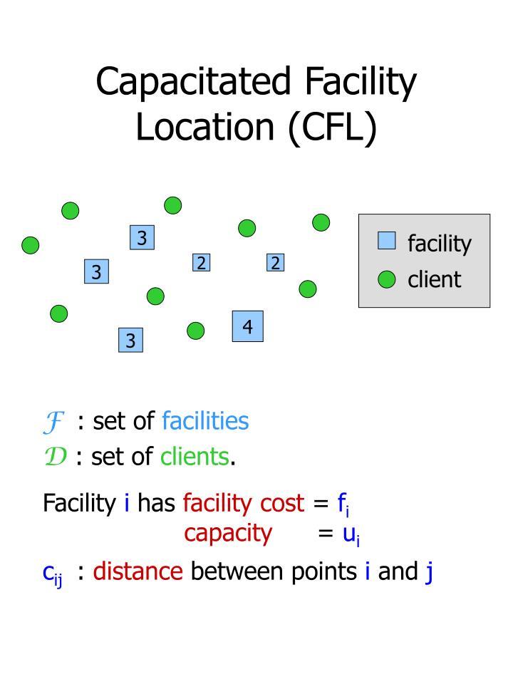 Capacitated facility location cfl