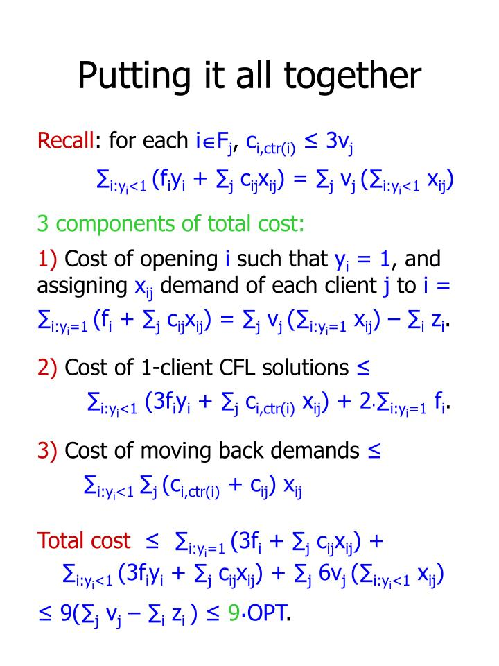 3 components of total cost: