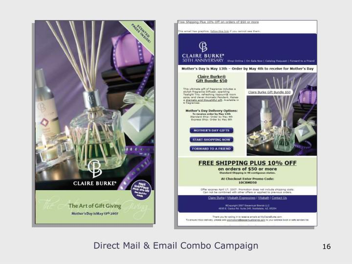 Direct Mail & Email Combo Campaign