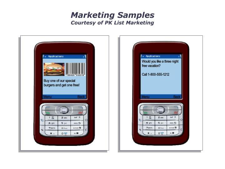 Marketing Samples