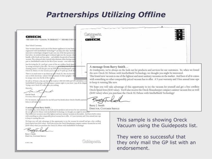 Partnerships Utilizing Offline