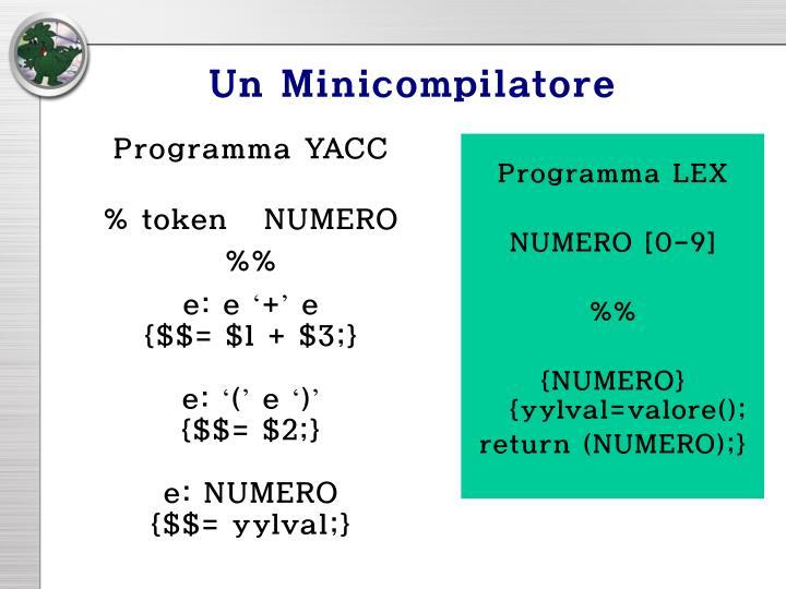 Un Minicompilatore