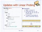 updates with linear probing1