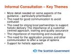 informal consultation key themes