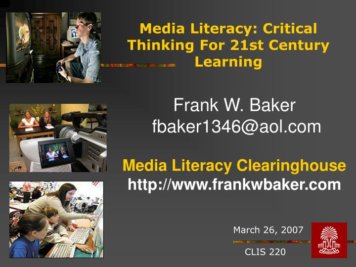 media literacy critical thinking for 21st century learning n.