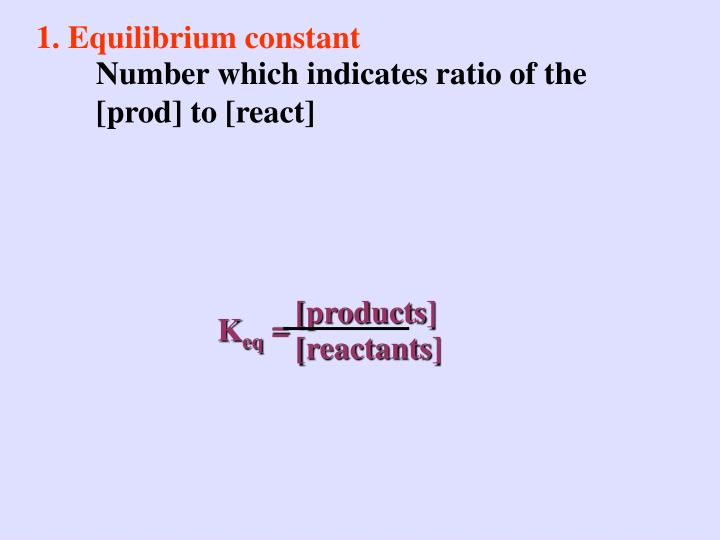 1. Equilibrium constant