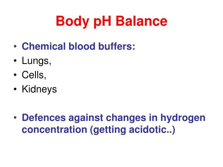 Body ph balance