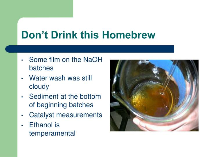 Don't Drink this Homebrew