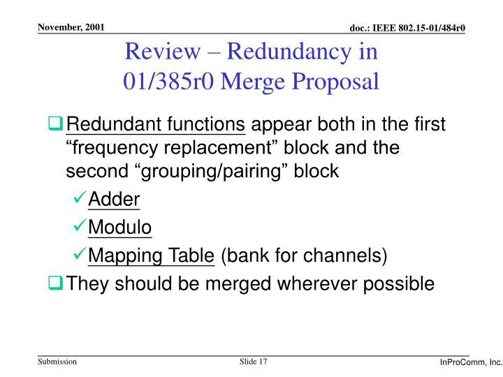 Review – Redundancy in