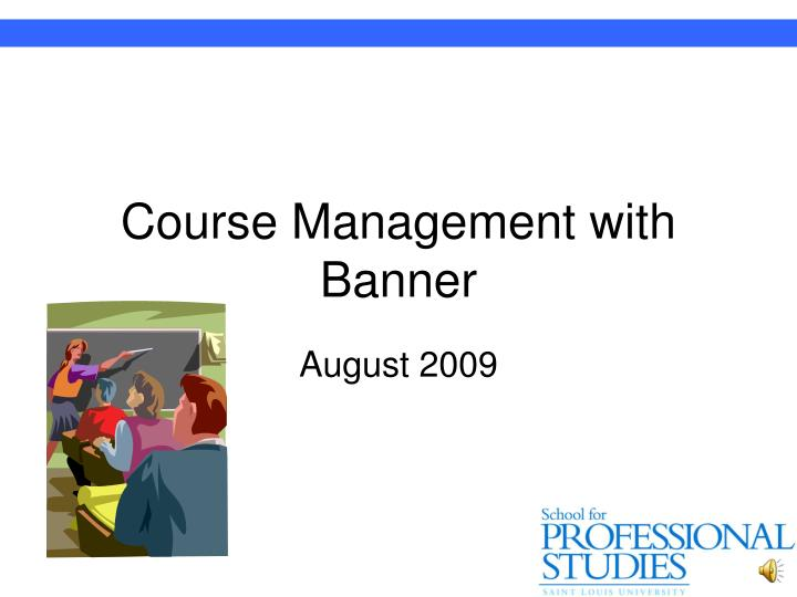 course management with banner n.