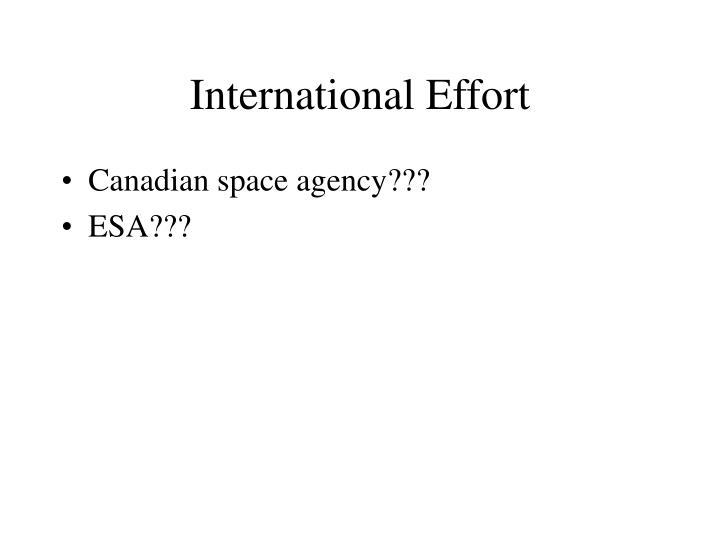 International Effort