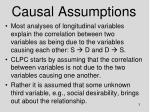 causal assumptions