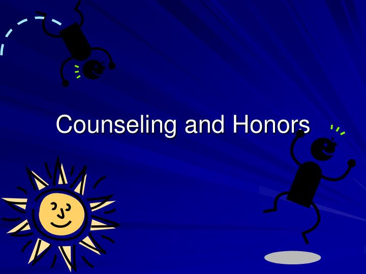 counseling and honors n.
