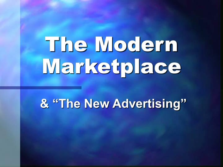 the modern marketplace n.