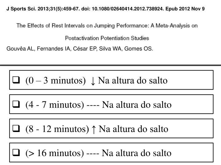 J Sports Sci. 2013;31(5):459-67. doi: 10.1080/02640414.2012.738924. Epub2012Nov 9