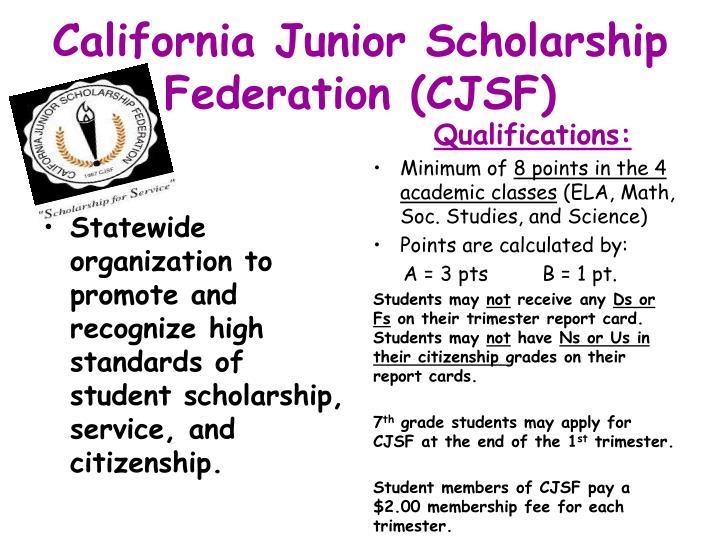 California Junior Scholarship Federation (CJSF)