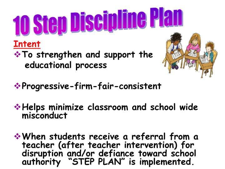 10 Step Discipline Plan