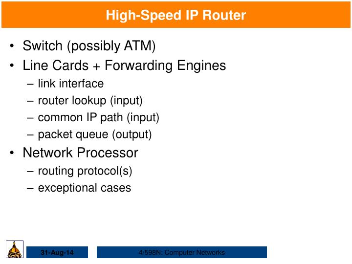 High-Speed IP Router