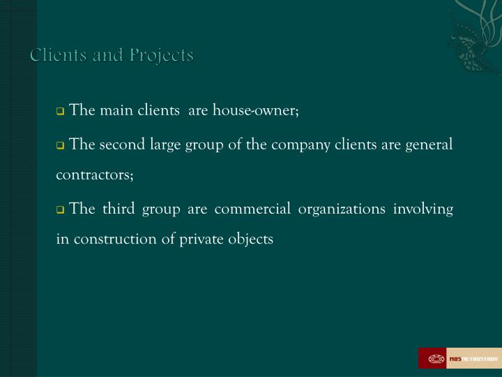 Clients and Projects