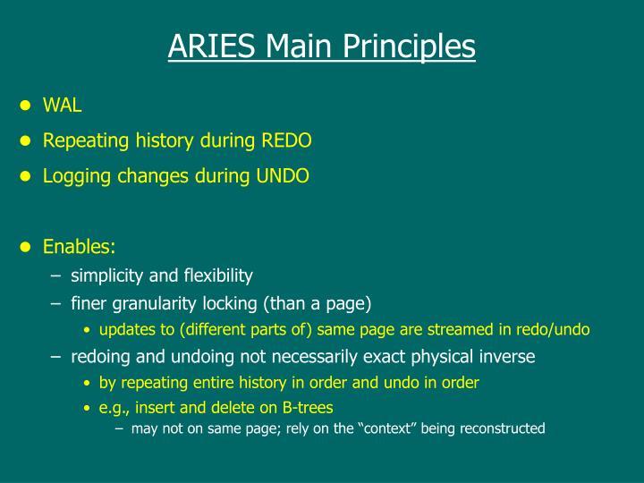 ARIES Main Principles