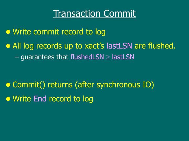 Transaction Commit