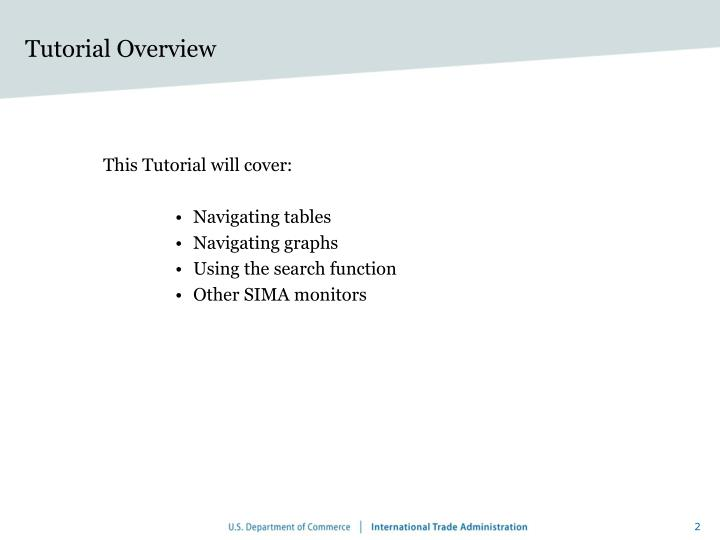 Tutorial overview
