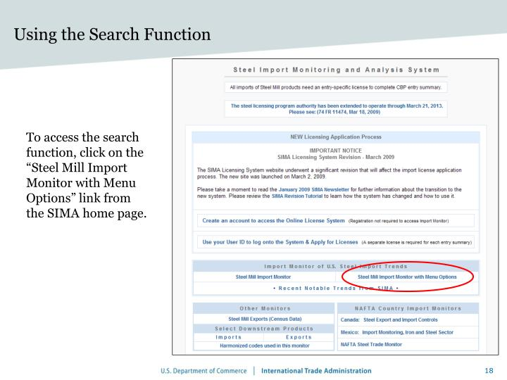 Using the Search Function