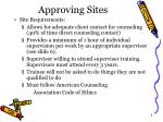 approving sites